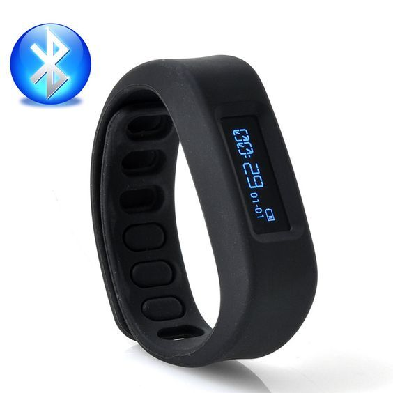 Bluetooth Health Bracelet - For Android Smartphones, Sports + Sleep Tracking, Stopwatch: