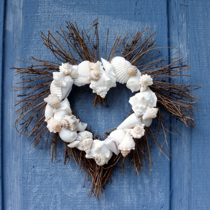 24 best wreaths images on pinterest seashell wreath for Craft wreaths for sale