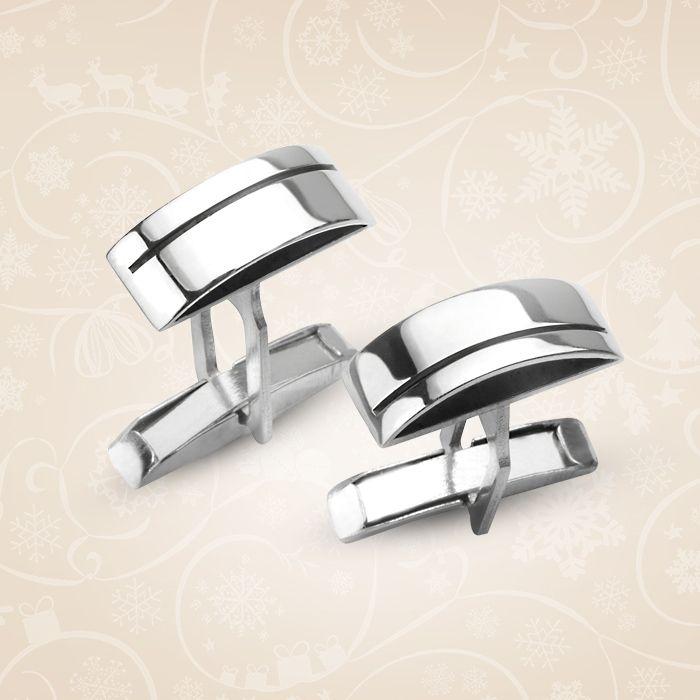 Srebrne spinki do mankietów. Idealne dla mężczyzn ceniących prostotę formy oraz elegancję.   Cena: 139 PLN  http://www.yes.pl/41801-spinki-do-mankietow-AB-S-000-MAN-AMPO056