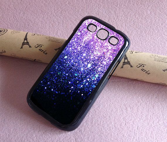 Samsung Galaxy S4 case Galaxy S3 case  Glitter by totogift on Etsy, $7.90