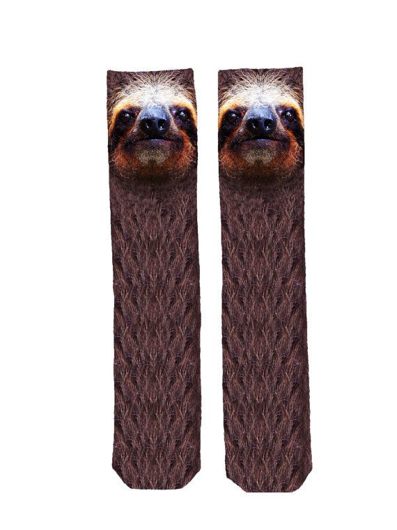 Practice your favorite deadly sin in these sloth socks.