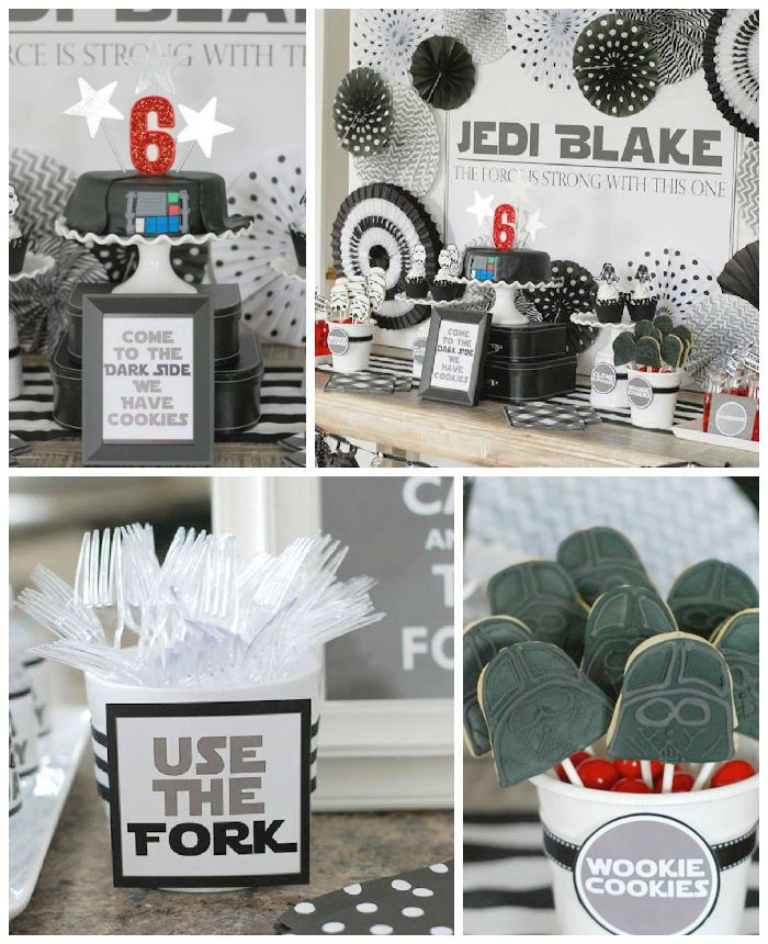 Darth Vader Birthday Party via Kara's Party Ideas | KarasPartyIdeas.com #darthvaderparty (2)