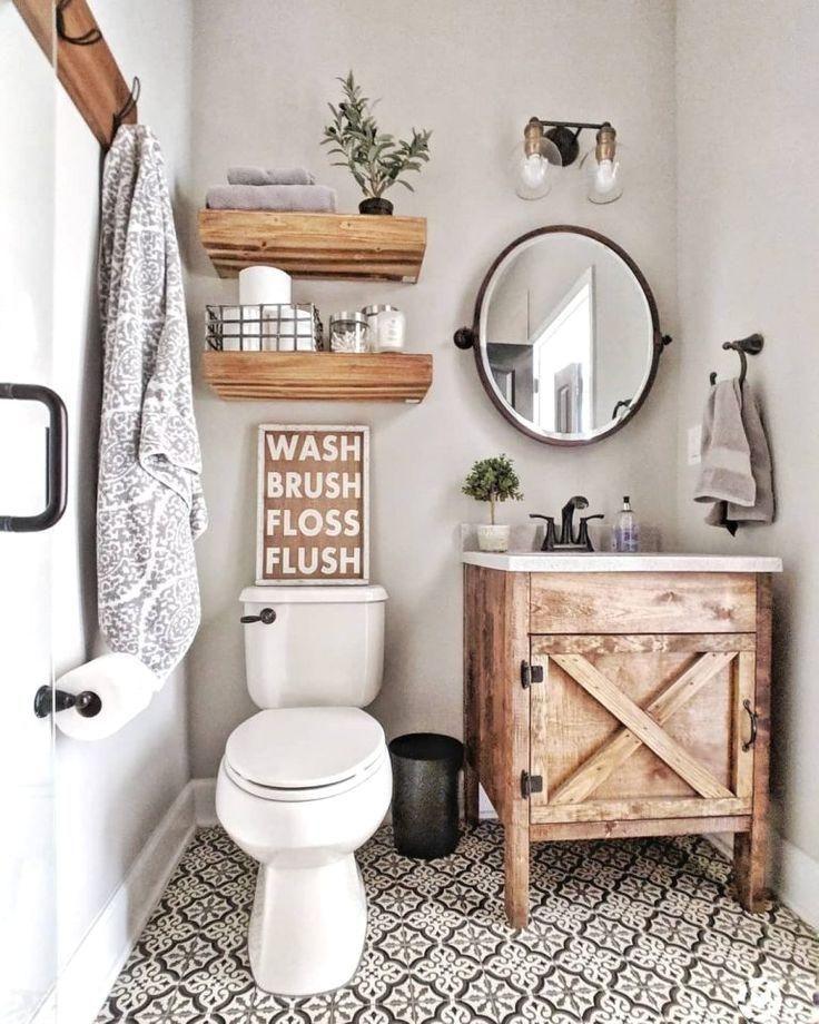 Bathroom Decor On Pinterest Signs Earth Tones Bathroo Rustic Modern Small Farmhouse