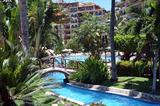 Velas Vallarta lush gardens and swimming pools