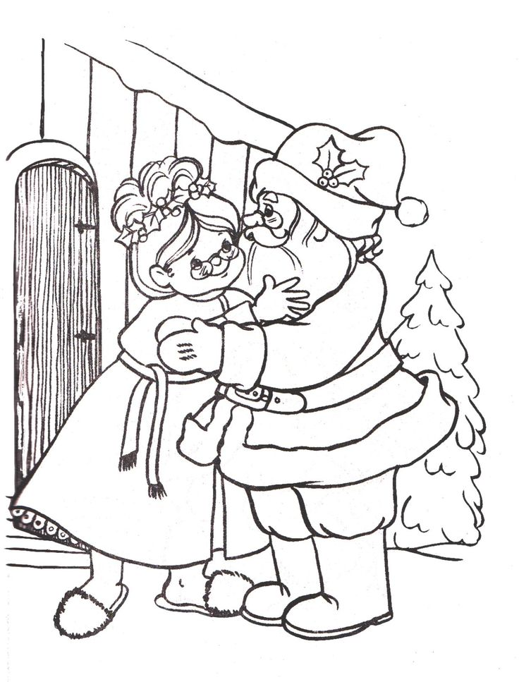 Mr. and Mrs. Santa Claus - Coloring Pages | Sketches ...