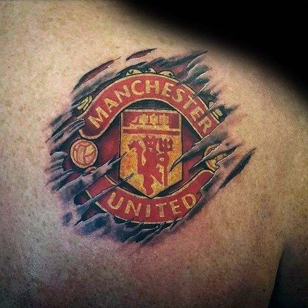 Upper-Back-Outstanding-Manchester-United-Tattoo.jpg (599×599)