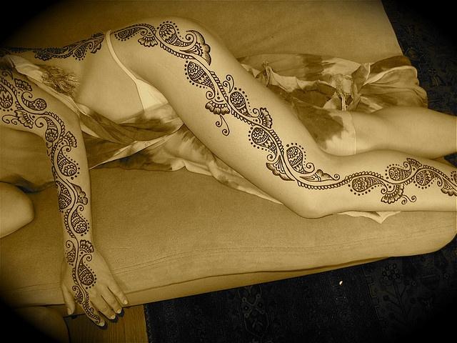 full body henna