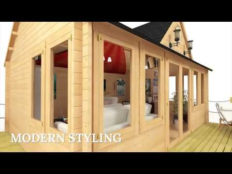 BillyOh Village Hall Log Cabin - Garden Log Cabins - Garden Buildings Direct
