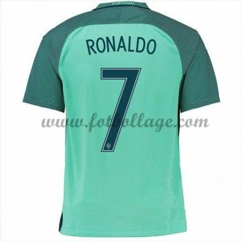 Portugal Landslagströja 2016 Cristiano Ronaldo 7 Borta Tröjor
