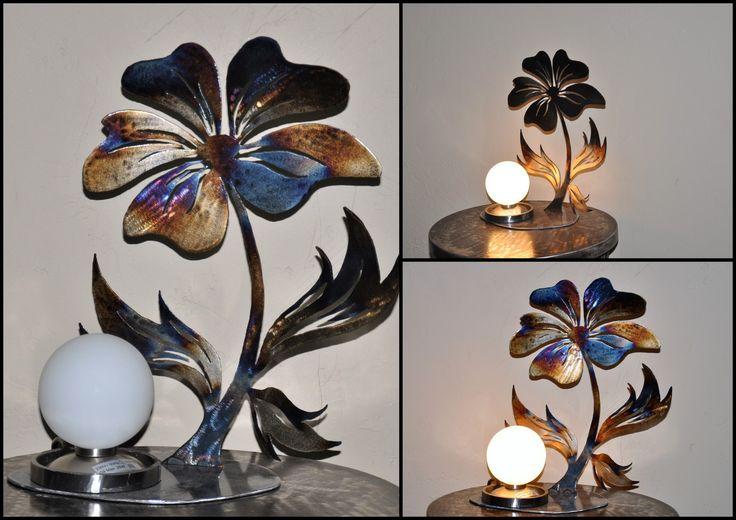 lampe tactile fleur en métal : Luminaires par blandin