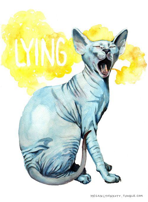 meganlynnkott:  Fan art I made inspired by Lying Cat, a character from Brian K. Vaughn  Fiona Staples comic, Saga.