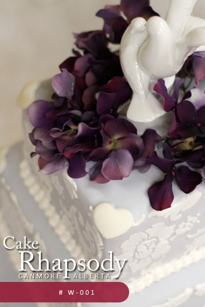 Beautiful Wedding Cake by Cake Rhapsody Canmore