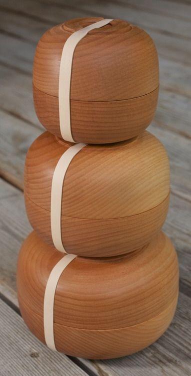 wood bento bowl