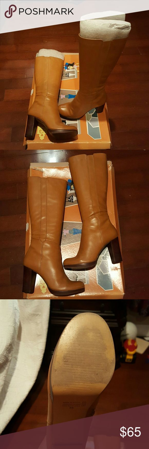 Gabriella Rocha leather boots Biscuit in color soft leather boots with 3 1/2 inch heel worn a couple of times. Gabriella Rocha Shoes Heeled Boots