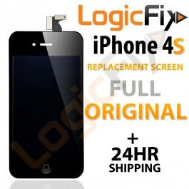 iPhone 4S Replacement Screen ( Original LCD )  Kit Includes: •1 iPhone 4S Replacement Screen ( Full Original ) •1 Set of Replacement Adhesive