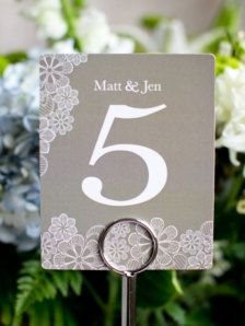 Wedding Table Numbers - Wedding Decorations