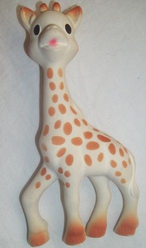 Sophie Giraffe Teether Vulli Natural Rubber Squeaks Pacifier Chew Toy Baby   eBay