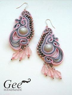 Soutache- Pink & Blue earrings