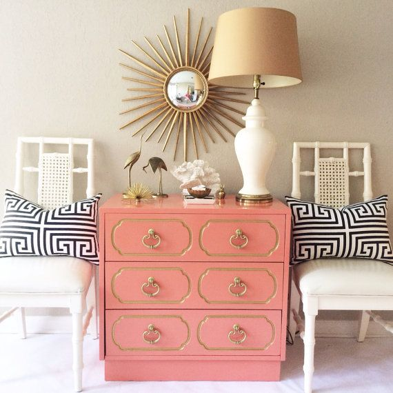 Vintage Coral  Dorothy Draper Chest  by SavvyVintageBoutique, $850.00