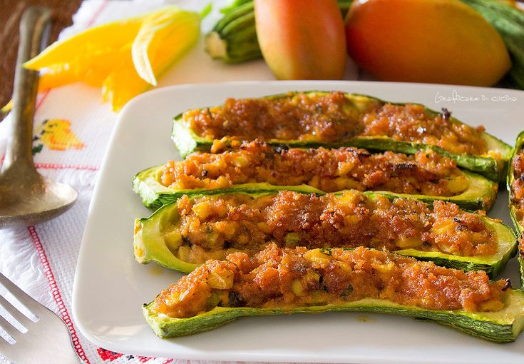 Zucchine+ripiene+ricetta+vegetariana