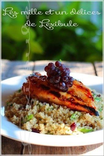 Blanc de poulet grillé et salade de quinoa aux canneberges