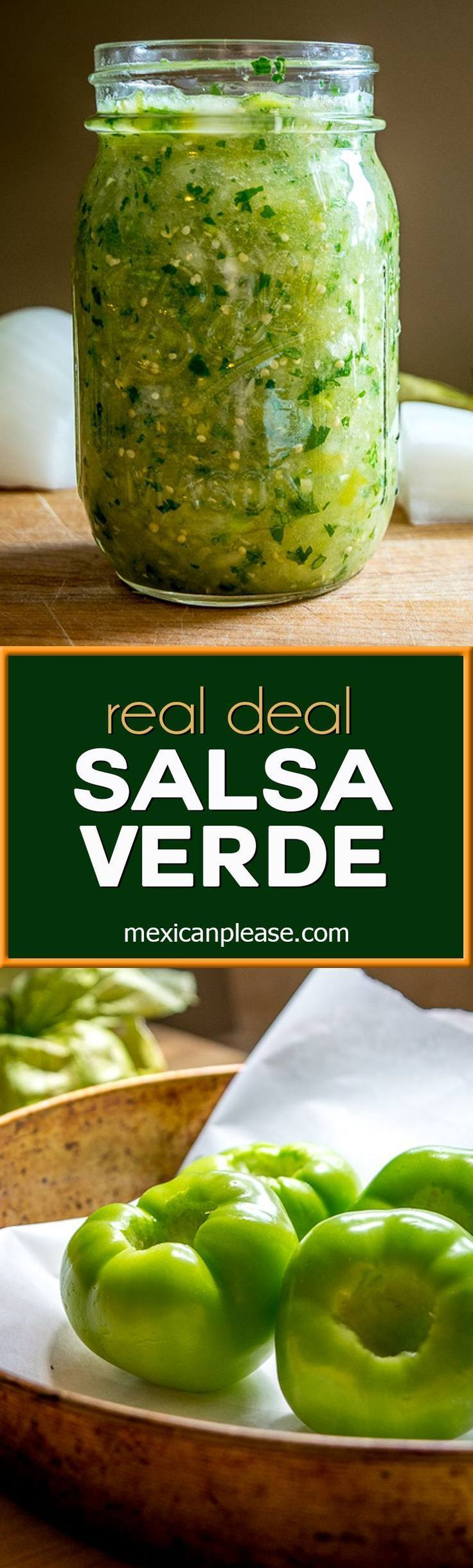 A homemade green salsa can transform eggs, carnitas, and enchiladas into something otherworldly.  Getting good at whipping up this authentic Salsa Verde opens up infinite possibilities!  mexicanplease.com