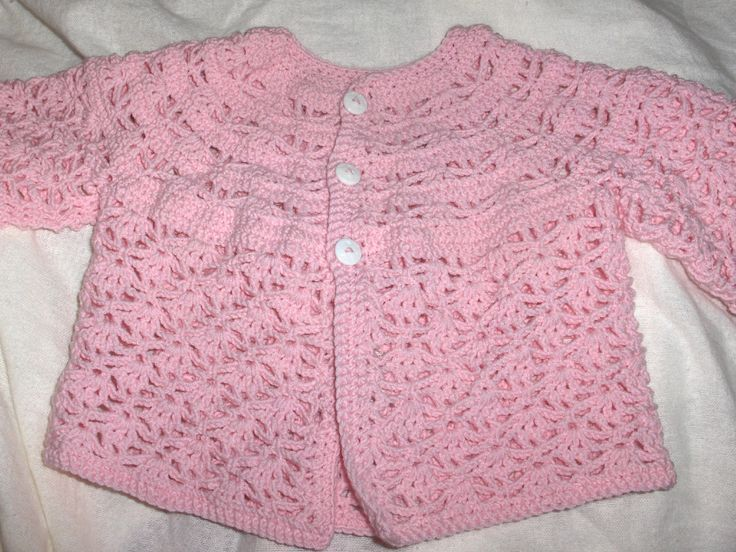 Baby jacket, new crochet baby jacket, handmade jacket, baby girl crochet, photo prop by Hildescrochetshop on Etsy