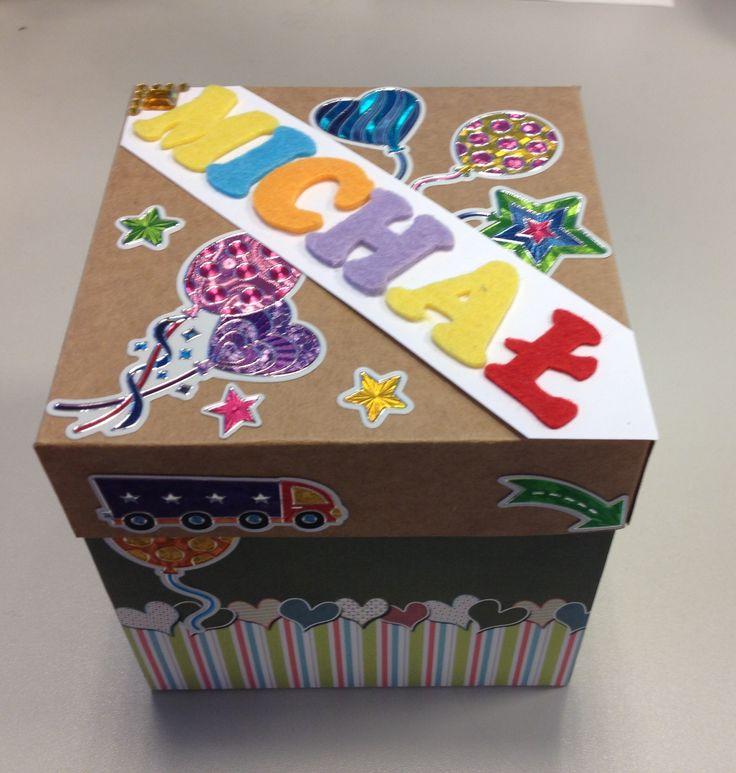 5 birthday exploding box with exploding cake