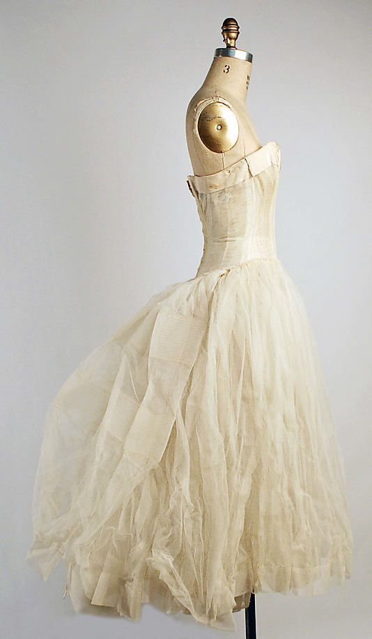 Evening underdress, House of Dior (French, founded 1947), 1955-1956