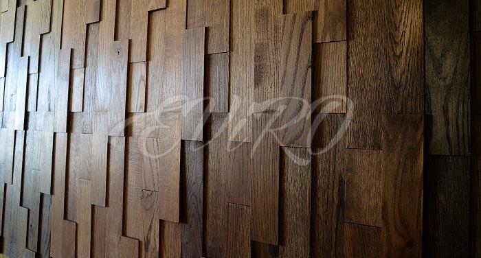 Каштан. Компания «ЕВиРО» представляет абсолютно новый продукт на белорусском рынке – интерьерную 3D-плитку из массивной древесины .Являясь абсолютно экологичными продуктом, плитка удивительным образом преобразит Ваш интерьер, придаст ему неповторимость и эксклюзивность. Она выполнена из массивной древесины дуба и покрыта натуральными экологическимими маслами, которые дополнительно подчеркнут неповторимый природный рисунок с сохранением естественного вида дерева.