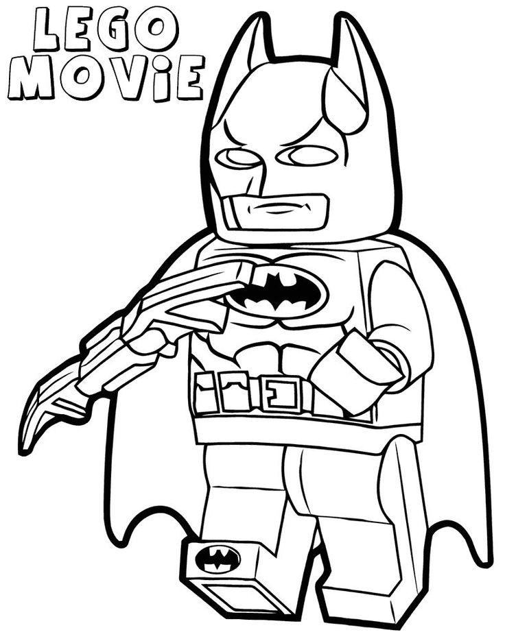 Print Lego Batman Movie Coloring Pages 1 Superhero