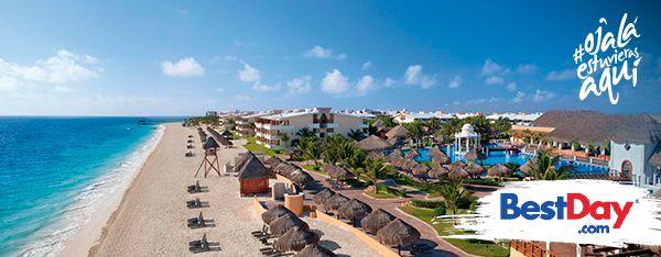Now Sapphire Riviera Cancún es un hotel de playa con 496 habitaciones, actividades recreativas familiares y un plan Todo Incluido de lujo. Ubicada a unos minutos de Puerto Morelos, en la Riviera Maya, la propiedad ofrece cuatro piscinas y siete restaurantes que no requieren reservaciones. Con spa y servicios para bodas, el hotel es ideal también para un viaje romántico. #OjalaEstuvierasAqui