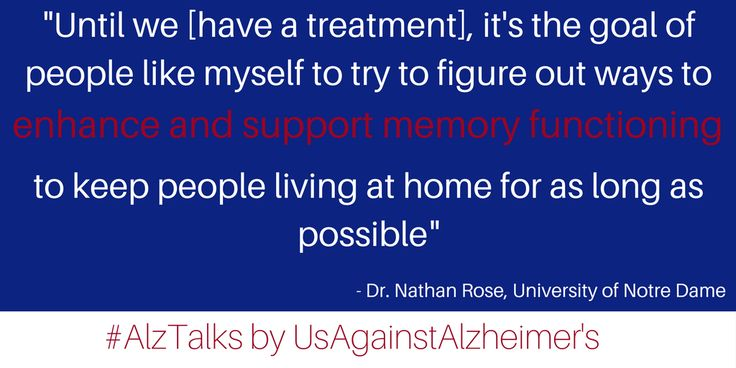 For UsAgainstAlzheimer's February Alzheimer's Talks, guest host Meryl Comer talked with Dr. Nathan Rose, Assistant Professor of Cognition Brain and Behavior in the Department of Psychology at the University of Notre Dame.   Dr. Rose's research focuses on basic memory processes and how these processes break down in aging and Alzheimer's disease. He shared with us two exciting areas of his memory research that have earned his team a lot of media attention recently.