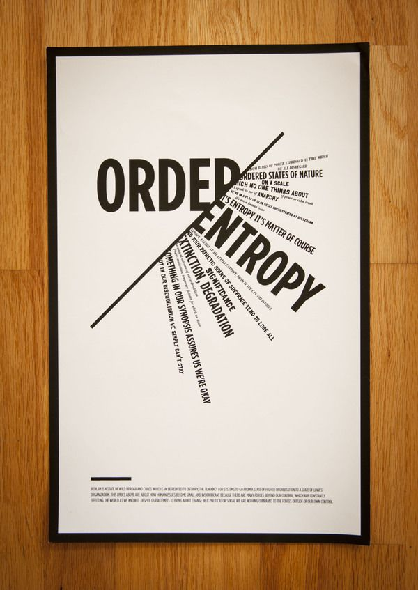 Expressive type poster by Andrea Falke, posters are effective ways of communicating a viewpoint