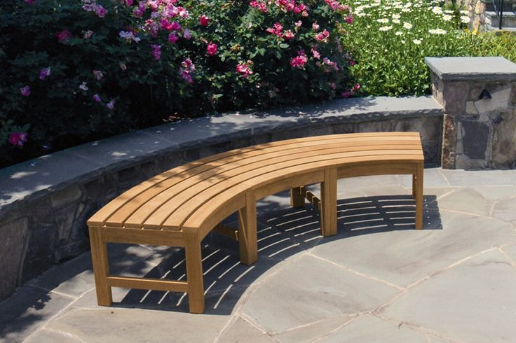 Curved Outdoor Bench Outdoor Garden Bench