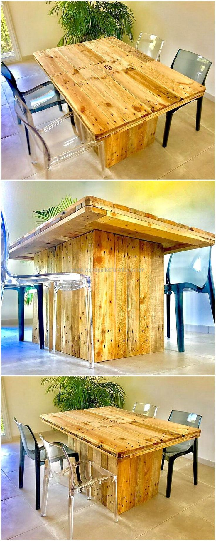 Pallet dining table - Surprising Diy Ideas For Old Used Pallets Dining Table