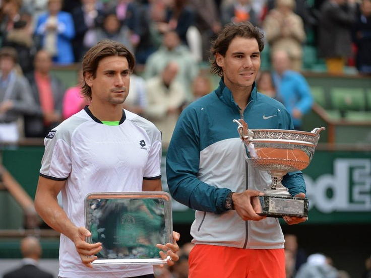 2013 French Open Champion Rafa Nadal & 1st time Finalist David Ferrer. The King & Prince of Clay, respectively.... Rafa Won the French Open for a Record EIGHTH TIME!!! ....Rafa is the only man to ever win a tournament 8X. Martina Navratilova won the Championships at Wimbledon 9X!!! #Greatness --- Despite French title, Rafa slides from 4th to 5th in rankings. #WoW