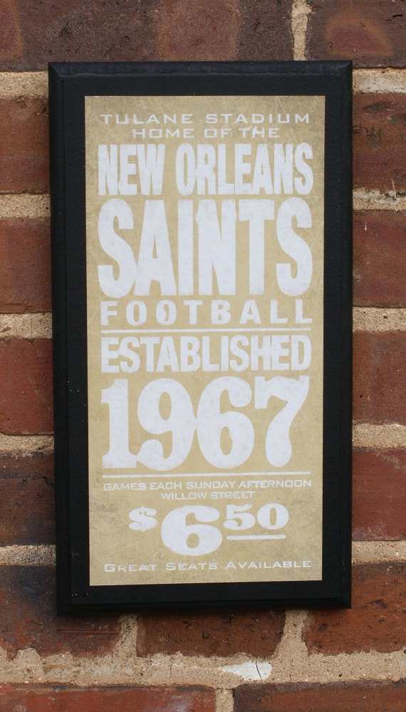 New Orleans Saints Man Cave Ideas : Replica vintage saints sign man cave items pinterest