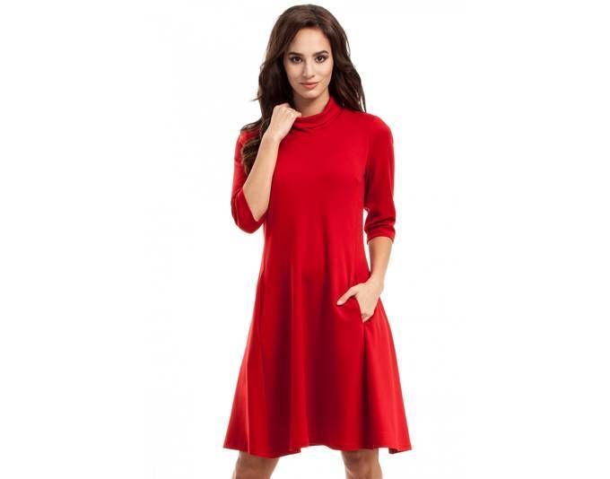 Clea Damenkleid mit Rollkragen ,Farbe: Rot, Größe: 38 Jetzt bestellen unter: https://mode.ladendirekt.de/damen/bekleidung/kleider/sonstige-kleider/?uid=ffd9bce2-aabd-5039-aa4d-93fca51c719a&utm_source=pinterest&utm_medium=pin&utm_campaign=boards #sonstigekleider #kleider #bekleidung