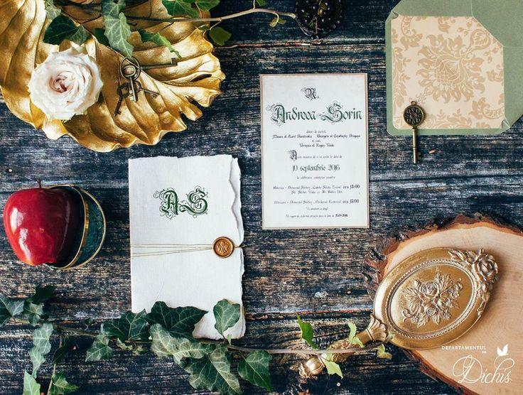 """Enchanted Forest"" Wedding Invitation"