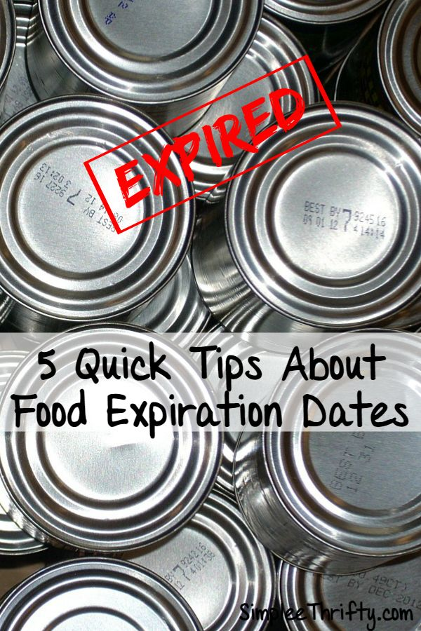 Expiration dates on food in Melbourne