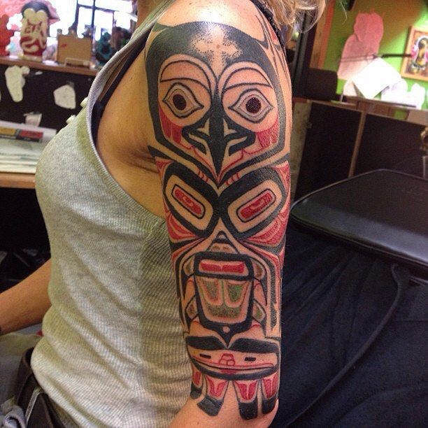 #haida inspired i did some years ago #jimorie #lighttown #tattoo #ltt