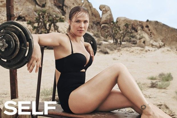 Ronda Rousey na Self Magazine (Foto: Reprodução)