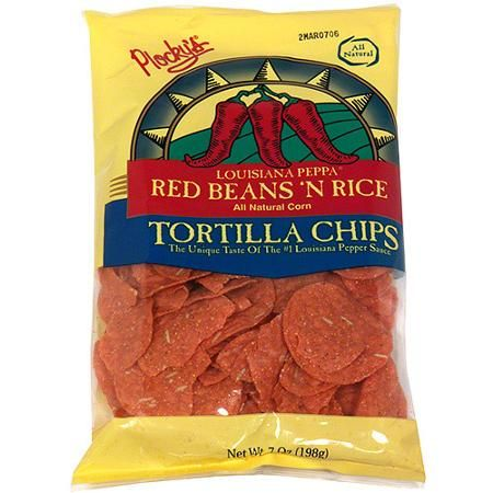 Plocky's Louisiana Peppa Red Beans N Rice Tortilla Chips, 7 oz (Pack of 12) - Walmart.com