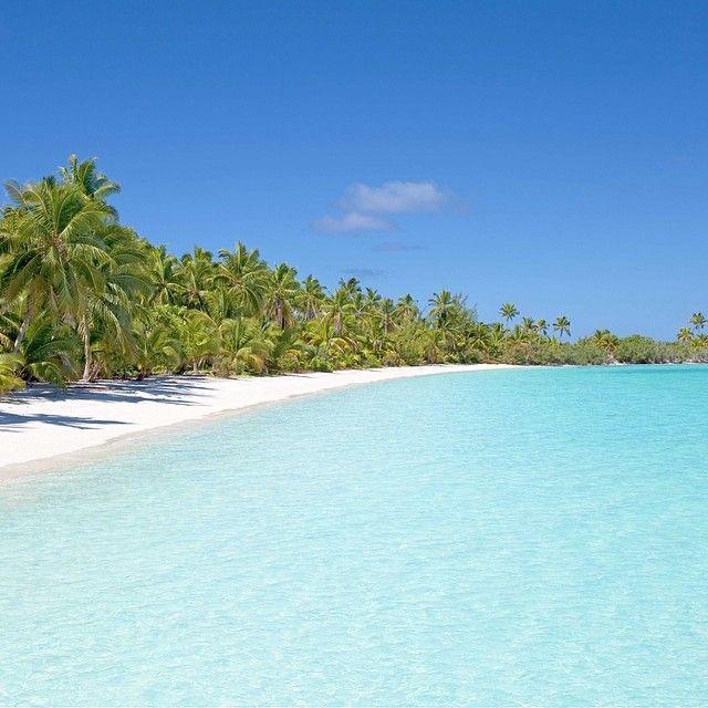 Cook Islands Beaches: Pristine Beach At #Aitutaki, #Cook #Islands In The South