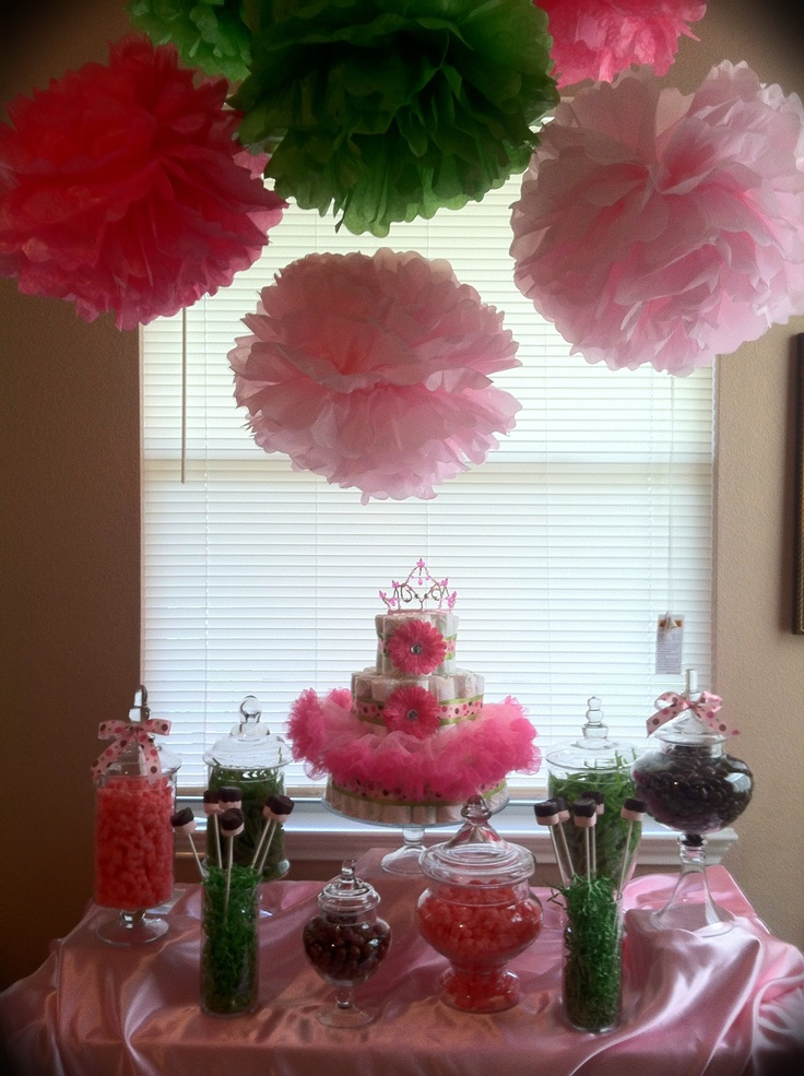 baby shower candy buffet great idea for the diaper cake im making