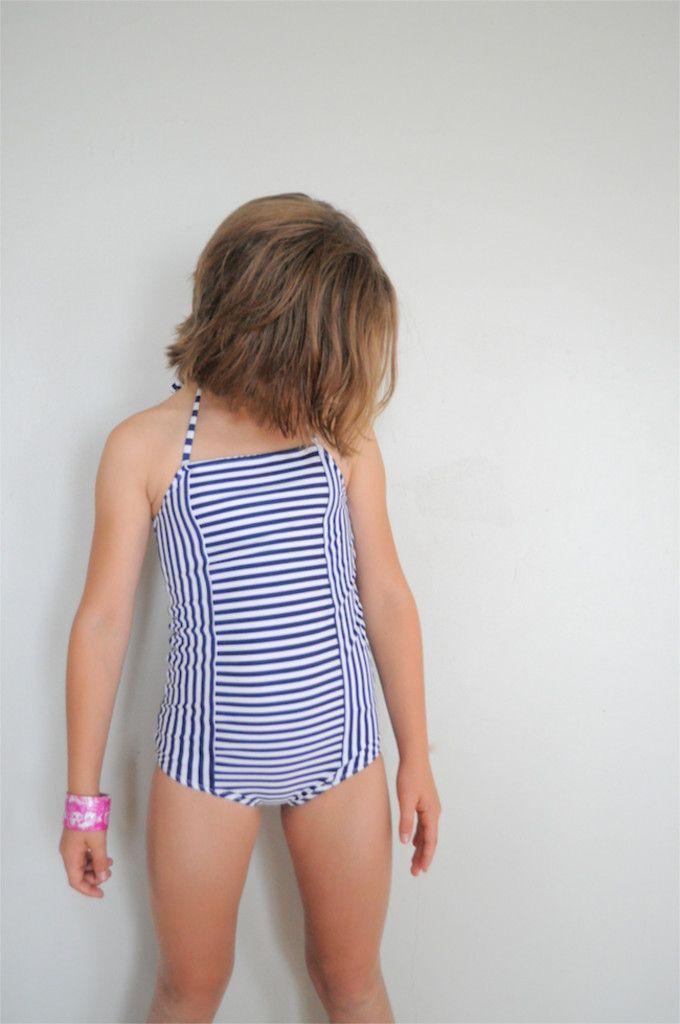 Stripey Swim Suit On Elsie Marley Pattern By Sewpony