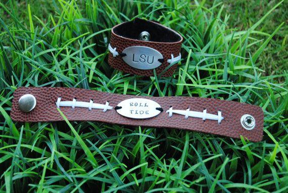 Personalized football bracelet