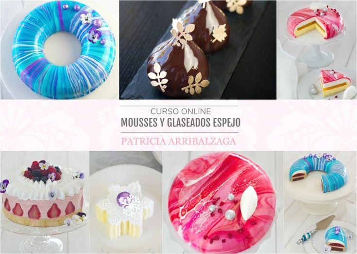 Curso Online de Mousses y Glaseados Espejo - Patricia Arribálzaga www.cakeshautecouture.com