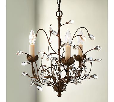 Camilla 3-Arm Chandelier #potterybarn I want this small chandelier for my small old home entry way.  Like it, if you think it's great for my home!